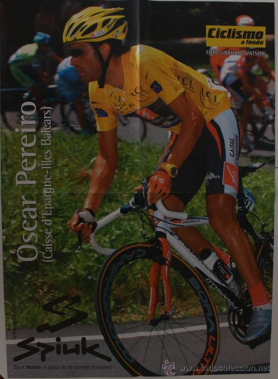 Coleccionismo deportivo: ÓSCAR PEREIRO-CARLOS SASTRE. CICLISMO. PÓSTER DOBLE - Foto 2 - 38220395
