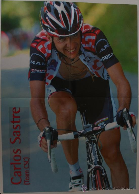 Coleccionismo deportivo: ÓSCAR PEREIRO-CARLOS SASTRE. CICLISMO. PÓSTER DOBLE - Foto 3 - 38220395