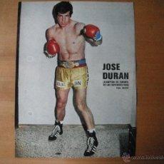 Coleccionismo deportivo: POSTER AS COLOR 1/2 PAGINA. JOSE DURAN (CAMPEON DE EUROPA SUPERWELTERS). AÑOS 70'.. Lote 39775985