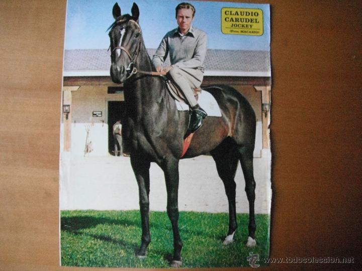 POSTER AS COLOR 1/2 PAGINA. CLAUDIO CARUDEL -JOCKEY-. AÑOS 70'. (Coleccionismo Deportivo - Carteles otros Deportes)