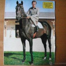 Coleccionismo deportivo: POSTER AS COLOR 1/2 PAGINA. CLAUDIO CARUDEL -JOCKEY-. AÑOS 70'.. Lote 39776156