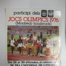 Coleccionismo deportivo: CARTEL-CARTELL JOCS OLIMPICS 1976 (MONTREAL-INNSBRUCK) CAIXA D´ESTALVIS PROVINCIAL BARCELONA. 69X50 . Lote 39968839