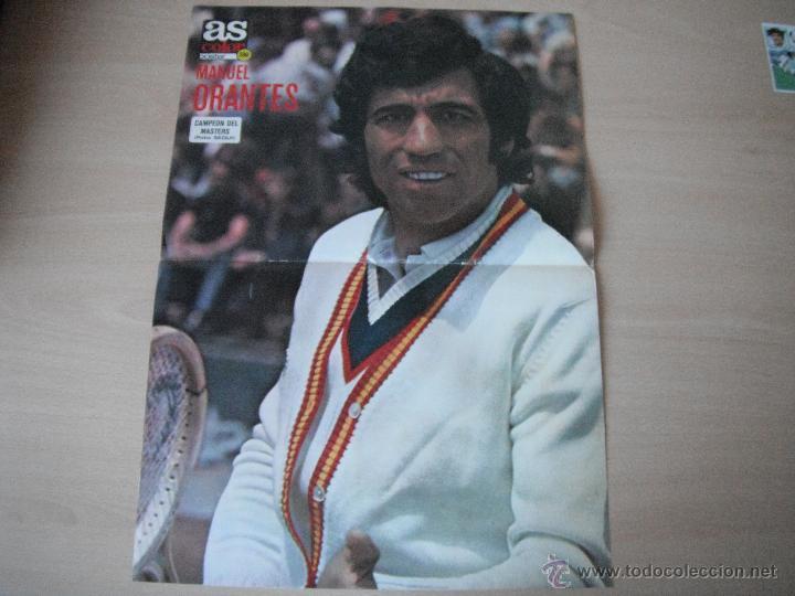 POSTER AS COLOR Nº 286. MANUEL ORANTES -CAMPEON DEL MASTERS 1976- (Coleccionismo Deportivo - Carteles otros Deportes)