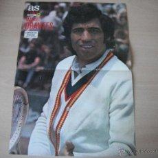 Coleccionismo deportivo: POSTER AS COLOR Nº 286. MANUEL ORANTES -CAMPEON DEL MASTERS 1976- . Lote 40825359