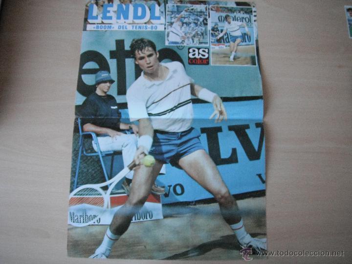 POSTER AS COLOR. LENDL -BOOM DEL TENIS 80-. 1980. (Coleccionismo Deportivo - Carteles otros Deportes)