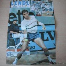 Coleccionismo deportivo: POSTER AS COLOR. LENDL -BOOM DEL TENIS 80-. 1980.. Lote 40831034