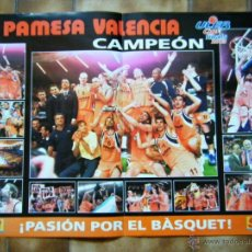 Coleccionismo deportivo: POSTER DEL PAMESA CAMPEÓN FINAL 2003. Lote 41322175