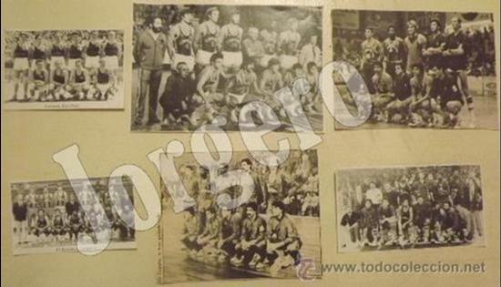 F.C.BARCELONA BALONCESTO. LOTE 6 RECORTES PLANTILLAS CAMPEONAS. DISTINTOS AÑOS (Coleccionismo Deportivo - Carteles otros Deportes)
