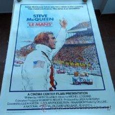 Coleccionismo deportivo: POSTER ORIGINAL EN LINO LE MANS 1971,STEVE MCQUEEN. Lote 41616294