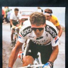 Coleccionismo deportivo: CARTEL DE PEDRO DELGADO, ASOCIACION DEPORTIVA BANESTO. Lote 42176762