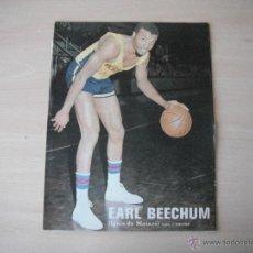 Coleccionismo deportivo: POSTER AS COLOR 1/2 PAGINA. EARL BEECHUM (IGNIS MATARO).AÑOS 70´.. Lote 42676432