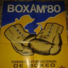 Coleccionismo deportivo: CARTEL VELADA BOXEO BOXAM SANTANDER 1980 . Lote 42714620
