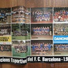 Coleccionismo deportivo: CARTEL DE SECCIONS ESPORTIVES DEL F. C. BARCELONA , 1980 , EN BUEN ESTADO .. Lote 43280905