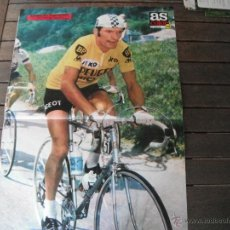 Coleccionismo deportivo: POSTER AS COLOR Nº 215. THEVENET (PEUGEOT). VENCEDOR DEL TOUR 1975. Lote 44742810