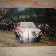 Coleccionismo deportivo: POSTER COCHE CARRERAS RALLYE REVISTA AUTOPISTA AÑOS 70 . Lote 44913177