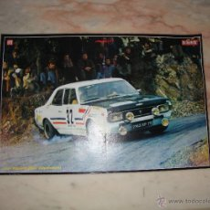 Coleccionismo deportivo: POSTER COCHE CARRERAS RALLYE REVISTA AUTOPISTA AÑOS 70 . Lote 44913552