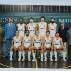 Coleccionismo deportivo: CARTEL EN CARTULINA DE LA PLANTILLA DE BALONCESTO DEL REAL MADRID LIGA 1983 - 84, FERNANDO MARTIN, R. Lote 45751039