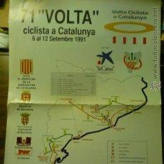 Coleccionismo deportivo: CARTEL 46 X 33 71 VUELTA CICLISTA A CATALUÑA 1991 - LA VOLTA. Lote 38336059