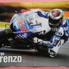 Coleccionismo deportivo: POSTER JORGE LORENZO (MOVISTAR YAMAHA) CAMPEONATO DEL MUNDO DE MOTOCICLISMO 2014 MOTOGP 14. Lote 84397931