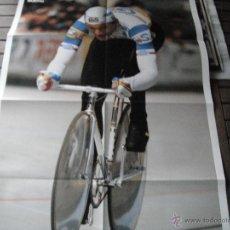 Coleccionismo deportivo: POSTER GUERIN SPORTIVO. FRANCESCO MOSER.1984. RECORD DE LA HORA.. Lote 47025241