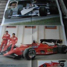 Coleccionismo deportivo: POSTER GUERIN SPORTIVO. NELSON PIQUET(CAMPEON DEL MUNDO F1.1983). ARNOUX Y ALBORETO (FERRARI).. Lote 47025418