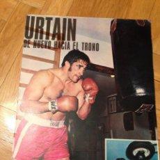 Coleccionismo deportivo: CARTEL POSTER BOXEO URTAIN BOXEADOR. Lote 47044322