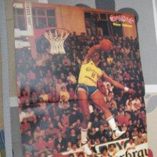 Coleccionismo deportivo: POSTER BALONCESTO WAYNE ROBINSON CACAOLAT GRANOLLERS REAL MADRID MUY BUEN ESTADO. Lote 47102322