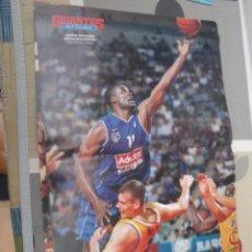 Coleccionismo deportivo: POSTER BALONCESTO ANDRAE PATTERSON ESTUDIANTES ADECCO MUY BUEN ESTADO. Lote 47102342