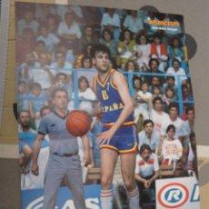 Coleccionismo deportivo: POSTER BALONCESTO SELECCION ESPAÑOLA ESPAÑA JOSE MARIA MARGALL JOVENTUT BADALONA MUY BUEN ESTADO. Lote 47113392