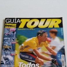 Coleccionismo deportivo: GUÍA DEL TOUR - CON GRAN POSTER CENTRAL DE PACO MANCEBO Y CHABA - ES DE LA ÉPOCA DE LANCE AMSTRONG. Lote 47157448