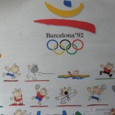 Coleccionismo deportivo: CARTEL OLIMPIADAS BARCELONA 92 PATROCINADOR OFICIAL KODAK CON TODOS LOS COBIS 50 X 70. Lote 47516415