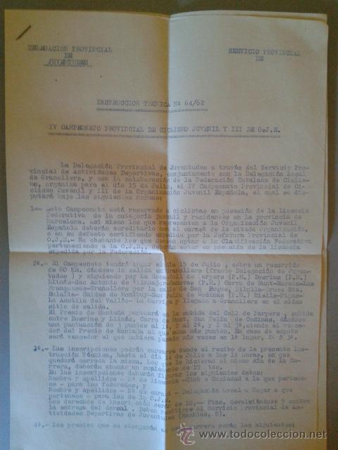 Coleccionismo deportivo: CARTEL DEL IV CAMPEONATO PROVINCIAL JUVENIL DE CICLISMO - GRANOLLERS 15 JULIO 1962 - Foto 2 - 47786612