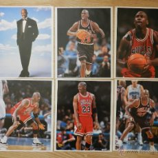 Coleccionismo deportivo: LOTE 6 POSTERS MICHAEL AIR JORDAN POSTER CHICAGO BULLS 38X30CM LOTE2. Lote 48277198