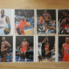 Coleccionismo deportivo: LOTE 8 POSTERS MICHAEL AIR JORDAN POSTER CHICAGO BULLS 38X30CM. Lote 48277213