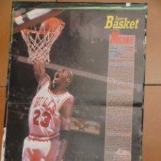 Coleccionismo deportivo: POSTER BALONCESTO NBA MICHAEL JORDAN CHICAGO BULLS MUY BUEN ESTADO. Lote 48285158