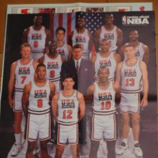 Coleccionismo deportivo: 1992 POSTER BALONCESTO NBA DREAM TEAM MICHAEL JORDAN BARKLEY MALONE MAGIC JOHNSON EWING BUEN ESTADO. Lote 48285648