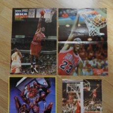 Coleccionismo deportivo: LOTE 4 POSTERS MICHAEL AIR JORDAN POSTER CHICAGO BULLS UN MATE UN TITULO REVISTA OFICIAL NBA. Lote 48316981