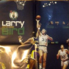 Coleccionismo deportivo: POSTER NBA BALONCESTO BASKET LARRY BIRD BOSTON CELTICS 1979-1992. Lote 48562176
