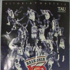 Coleccionismo deportivo: PÓSTER DEL TAU CERÁMICA (BASKONIA) DE VITORIA - 2003 - 1000 PARTIDOS EN ACB. Lote 49524070