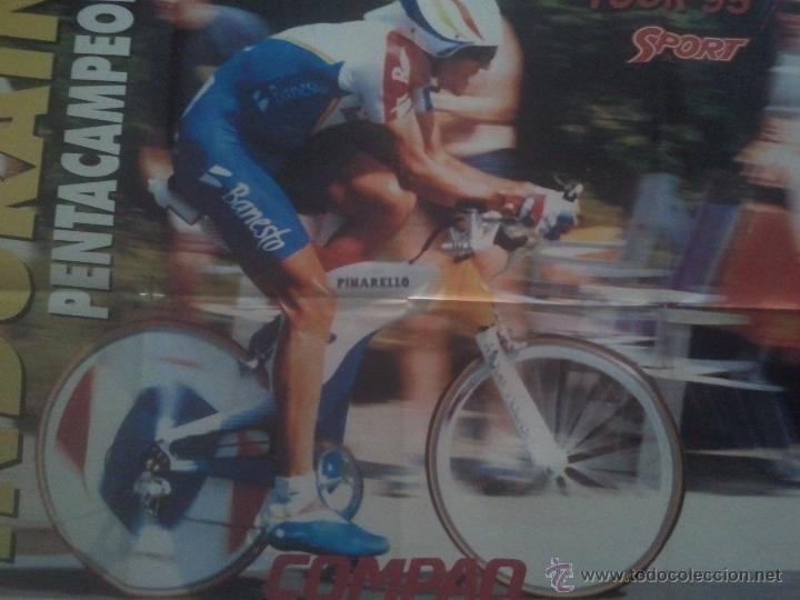 POSTER INDURAIN PENTACAMPEON TOUR 95 - SPORT CICLISMO 79X60 (Coleccionismo Deportivo - Carteles otros Deportes)