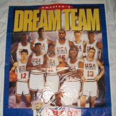 Coleccionismo deportivo: PÓSTER DREAM TEAM EQUIPO DE BALONCESTO EEUU 1992. Lote 49643316