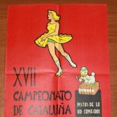 Coleccionismo deportivo: XVIII CAMPEONATO DE CATALUÑA DE PATINAJE ARTISTICO. PISTAS DE LA U.D. COMA-ROS. SALT-GERONA 1962.. Lote 50436919