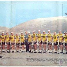 Coleccionismo deportivo: CICLISMO 1973 CARTEL POSTER KAS. GALDOS, FUENTE, AJA, PERURENA, LOPEZ CARRIL, LASA, LINARES. Lote 50915547