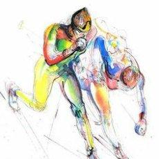 Coleccionismo deportivo: CARTEL JUEGOS OLIMPICOS SARAJEVO 1984. ESQUI DE FONDO. ARTISTA ISMAR MUJEZINOVIC. CROSS-COUNTRY SKI. Lote 172451719