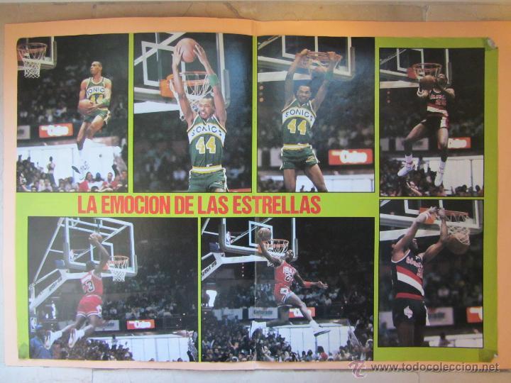 POSTER CONCURSO DE MATES 1987. ALL STAR.NBA. JORDAN, KERSEY, STANSBURY. BALONCESTO. BASKET. (Coleccionismo Deportivo - Carteles otros Deportes)