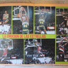 Coleccionismo deportivo: POSTER CONCURSO DE MATES 1987. ALL STAR.NBA. JORDAN, KERSEY, STANSBURY. BALONCESTO. BASKET.. Lote 122061098