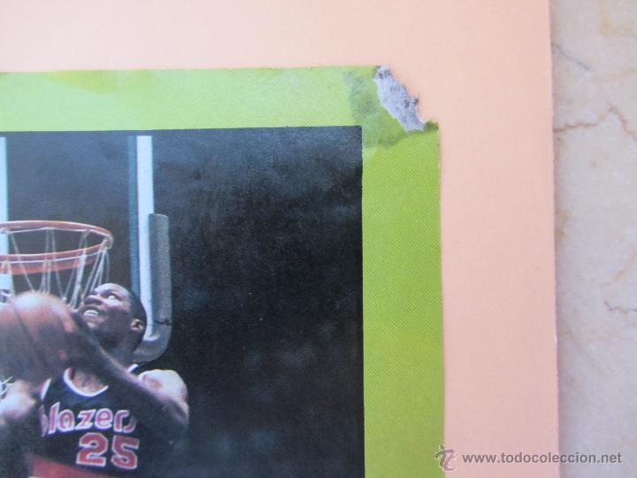 Coleccionismo deportivo: Poster Concurso de Mates 1987. All Star.NBA. Jordan, Kersey, Stansbury. Baloncesto. Basket. - Foto 2 - 122061098