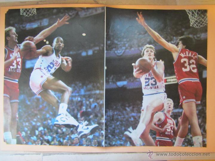 Coleccionismo deportivo: Poster Concurso de Mates 1987. All Star.NBA. Jordan, Kersey, Stansbury. Baloncesto. Basket. - Foto 3 - 122061098