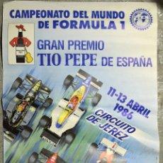 Coleccionismo deportivo: CARTEL CAMPEONATO DEL MUNDO DE FORMULA 1 GRAN PREMIO TIO PEPE DE ESPAÑA CIRCUITO JEREZ 1986 (6. Lote 51811574