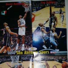 Coleccionismo deportivo: GRAN POSTER DE LA REVISTA NBA - SAN ANTONIO SPURS FINAL 2003 ROBINSON GINOBILI PARKER. Lote 51925412